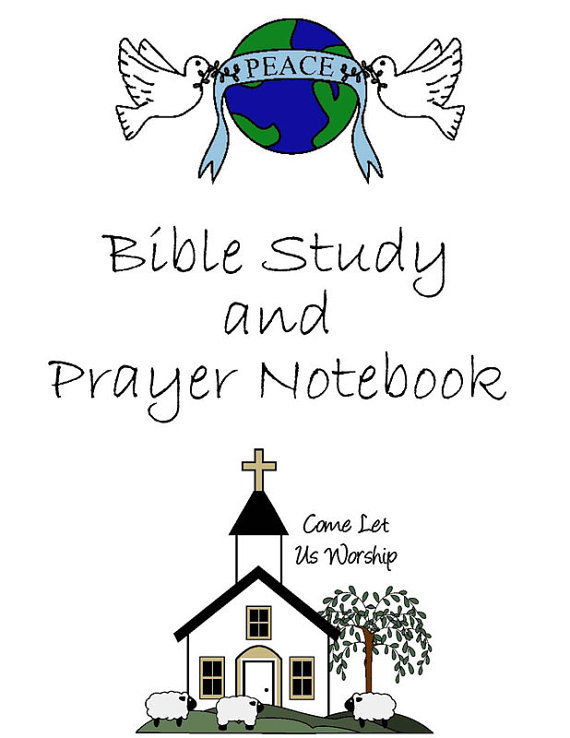 Bible Study & Prayer Notebook - Click Image to Close