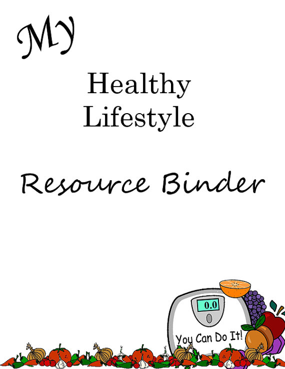Healthy Lifestyle Resource Binder