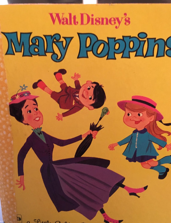 1964 Mary Poppins Little Golden Book Art Journal - Click Image to Close