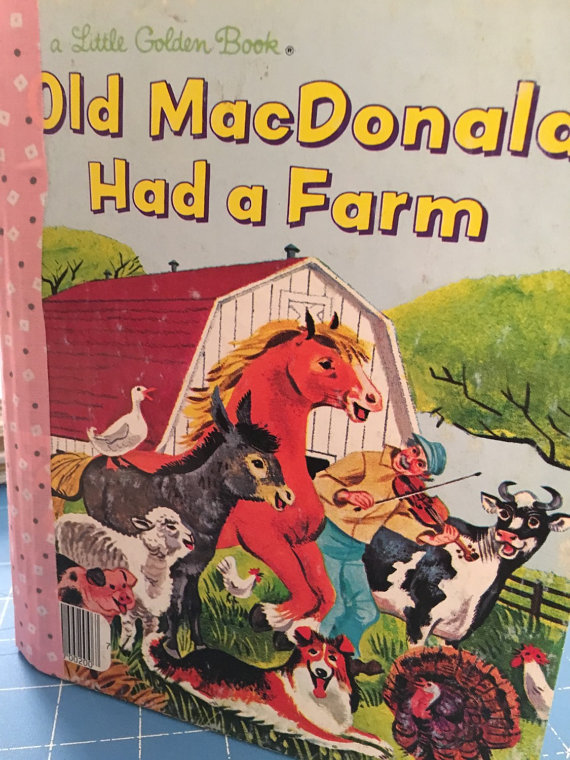 Old MacDonald Had a Farm Little Golden Book Art Journal
