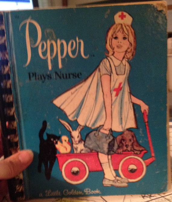 Pepper Plays Nurse Little Golden Book Art Journal