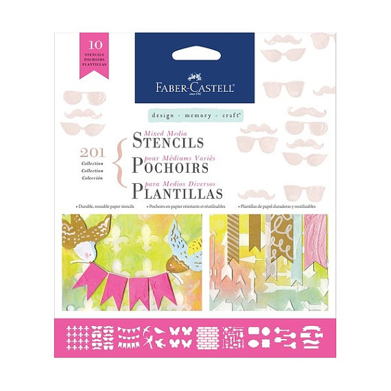 Faber-Castell Stencils Collection 201 10ct - Click Image to Close