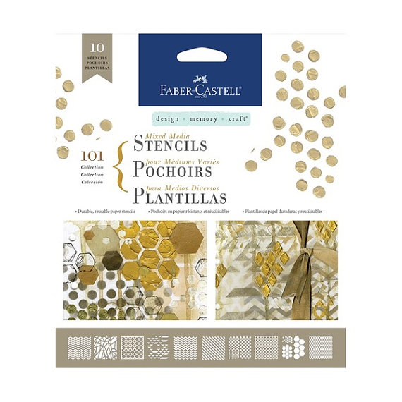 Faber-Castell Stencils Collection 101 10ct - Click Image to Close