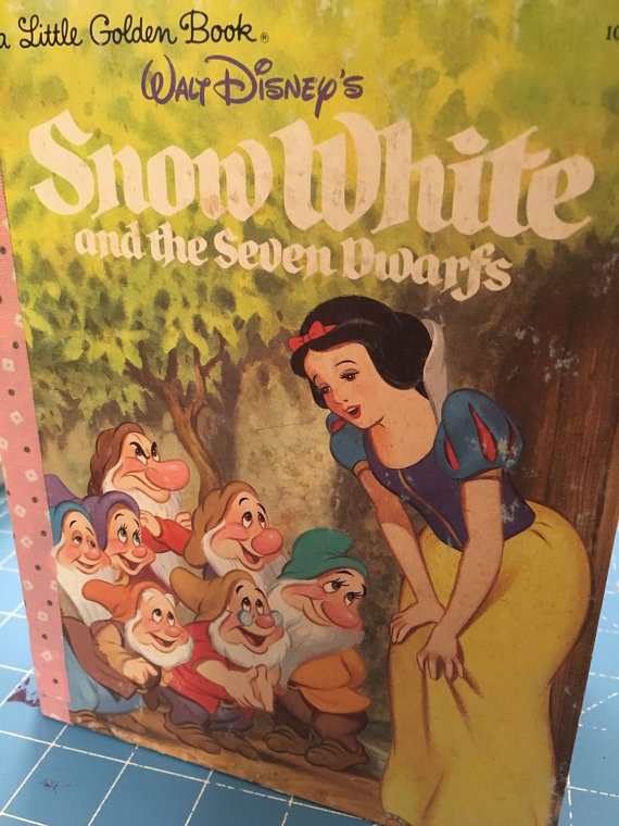 Snow White Little Golden Book Art Journal - Click Image to Close