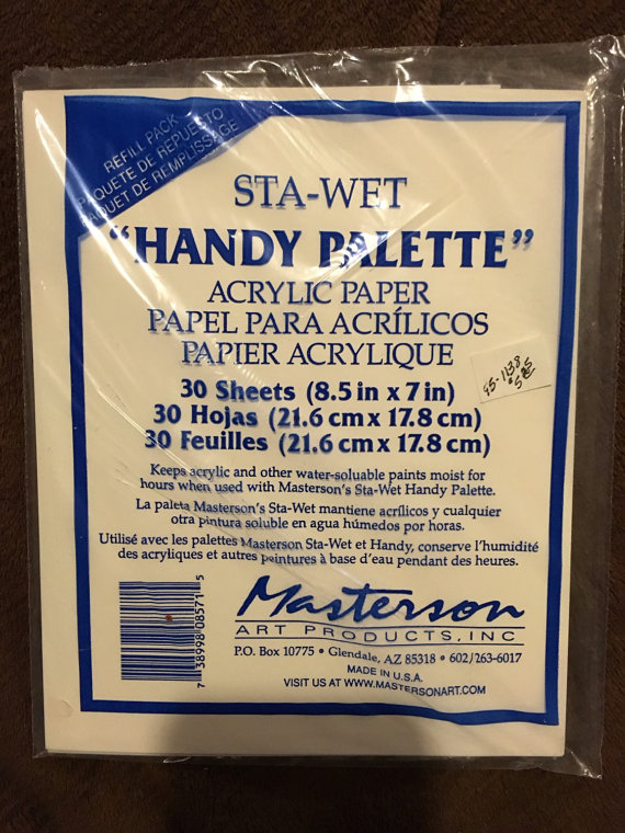 Masterson Sta-Wet Handy Palette pack of 8 1/2 in. x 7 in