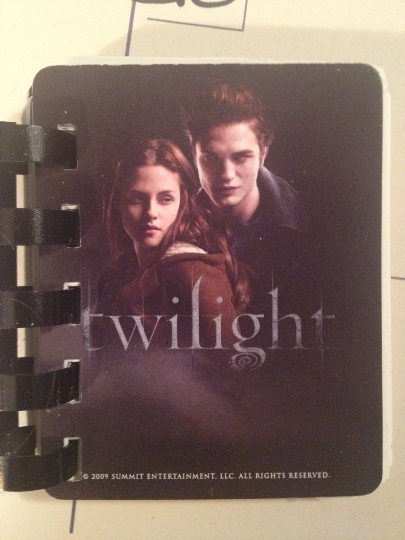 Mini Twilight Journal upcycled/re-cycled card