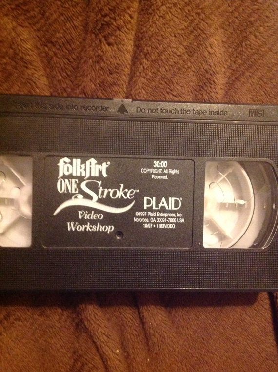 Folkart One Stroke VHS Video Workshop #1183VIDEO
